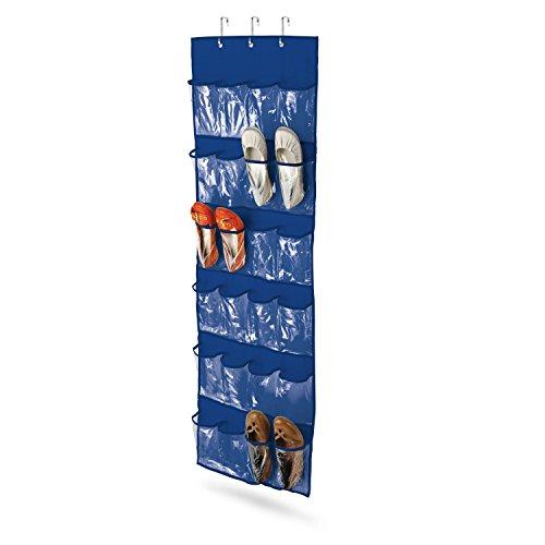 Honey-Can-Do SFT-01278 Over The Door Clear Shoe OrganizerStorage Rack Navy