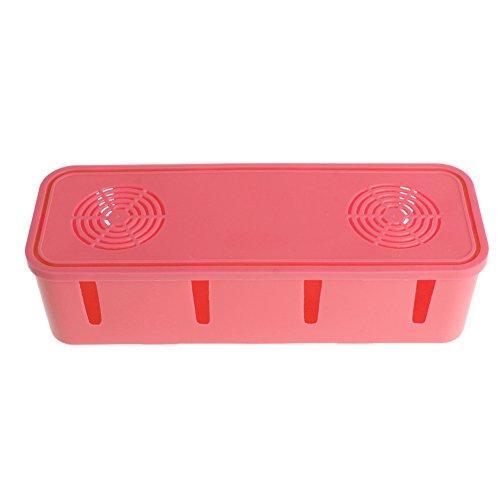 Pink-day Multifunction Dustproof Power Storage Box for Plug Socket Hermosa Pink Case Organizer