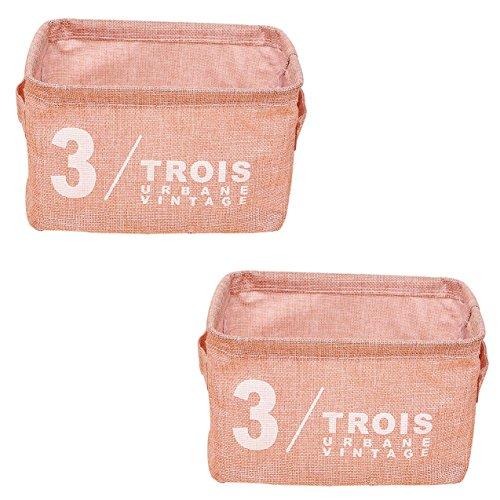 Skyflying 2PCS Serial Number Portable Storage Basket Box Underwear Sundries Socks Tools 2 Pink Number 3