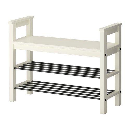 Ikea Bench with shoe storage white 33 12x12 58  221014112622