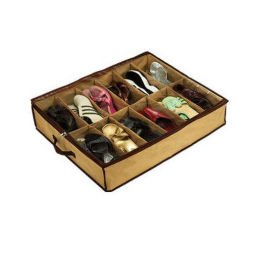 BoatShop Compact Dust Proof 12 Cases Shoe Storage Organiser Box Bags