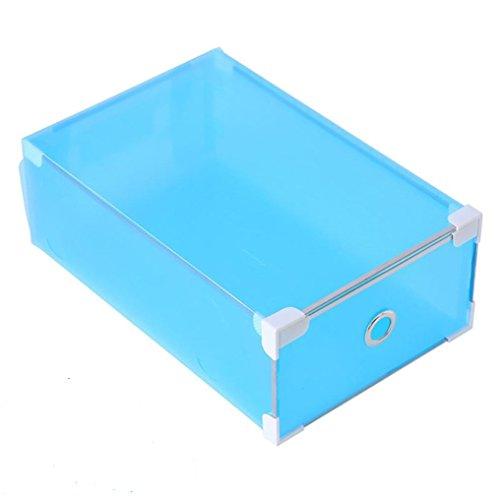 Shoe Box VIASA Foldable Clear Plastic Shoe Box Shoe Storage Organiser C