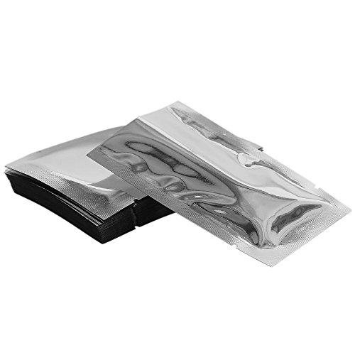 Chosky 100PCS Mylar Foil Bags Flat Vacuum Seal Bags Aluminum Foil Smell Proof Pouches Long Term Food Storage Bags 39x 59