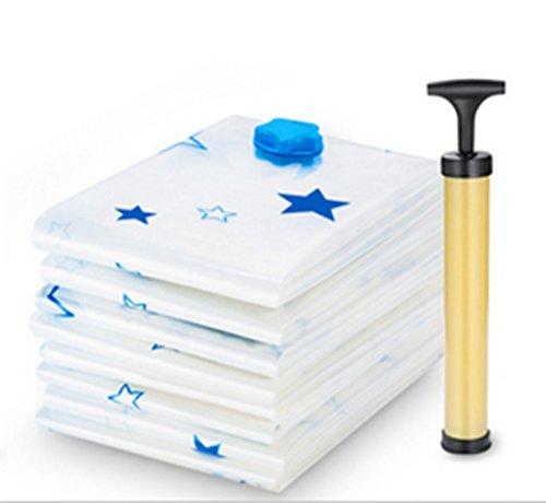 Wnnideo Vacuum Space Saver Storage Bags Various Size Pack of 4 Free Vacuum Hand Pump 60×40cm