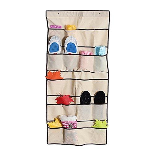 20 Pockets Hanging Hanger Shoe Rack Closet Space Saver Storage Bag