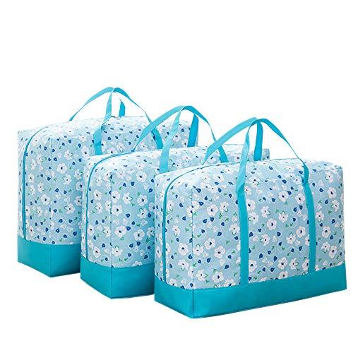 XFentech 3 Pcs Set Under Bed Storage Bag Bedding Clothes Large Storage Organizer