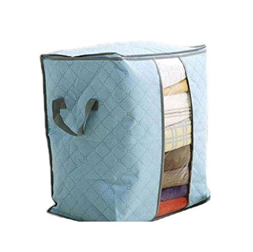 Large Flexible Storage BagVIASA Clothes Bedding Duvet Zipped Pillows Non Woven Storage Bag Box gray