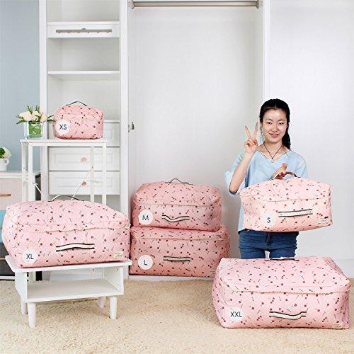 Sivin 967L Cherry Pink Soft Storage Organizer Bag for ClothingDuvetsBeddingPillowsCurtains XXL