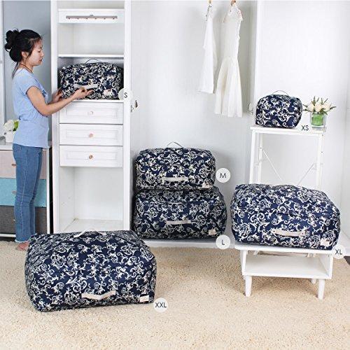 Sivin Blue Soft Storage Organizer Bag for ClothingDuvetsBeddingPillowsCurtainsSweater XXL634832967L