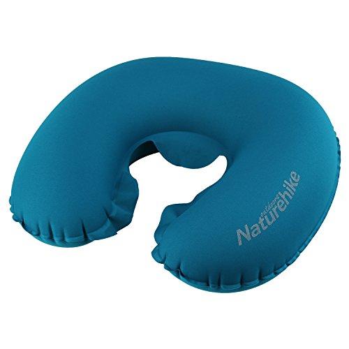 Travel Pillow Cido Inflatable U-Shape Neck Travel Pillow with Storage Bag Blue