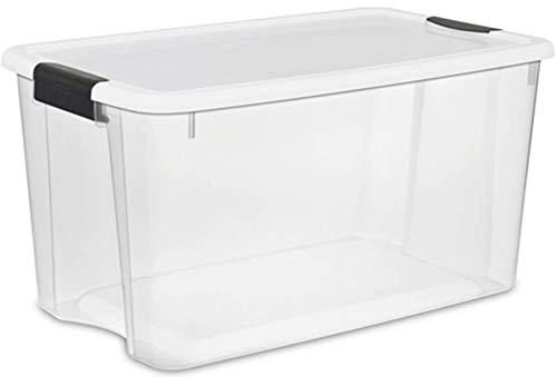 Sterilite 70 Quart Clear Plastic Storage Container 4 Pack  6 Quart Clear Plastic Storage Tote 12 Pack