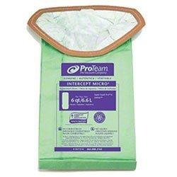 Proteam 107314 Vacum Bags Commercial-Grade SuperCoach Pro 6 Vacuum Bag Filters Trap Dangerous Spores 10pk