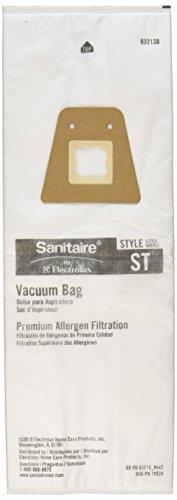 Sanitaire 63213 ST Vacum Bags Commercial-Grade Sanitair Vacum Bags Traps Dangerous Spores Pollen 5pk