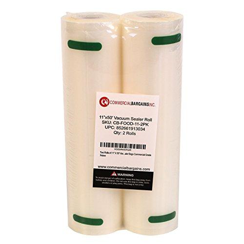 Commercial Bargains 2 Jumbo 11 x 50 Commercial Vacuum Sealer Saver Bags Sous Vide Food Storage