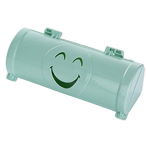 Wall-Mounted Garbage Bag Storage Box Bag Dispenser Bag SaverHolder Green