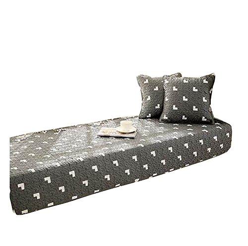 Modern Window Bench Mat Window Seat Pads Cushion Covers Tatami Dark Gray