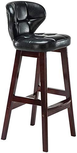 QTQZDD Decorative Bench Solid Wood bar Chair European Retro bar Stool Household Armchair bar Chair Bar Stool Front Row Cafe Restaurant Chair 434075 cm Black