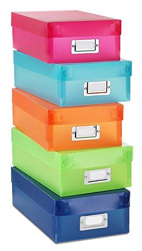 NEW 5-color Durable Plastic Organizer Boxes