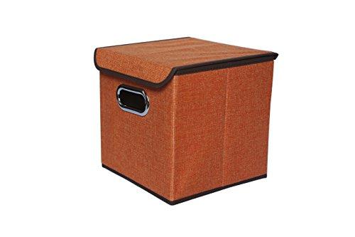 Fantasylife Fabric Storage box with Lids Orange
