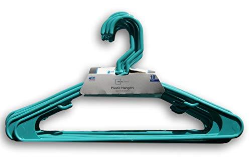 Mainstay 18-Pack Standard Plastic Hangers Aqua Ocean 1 Pack