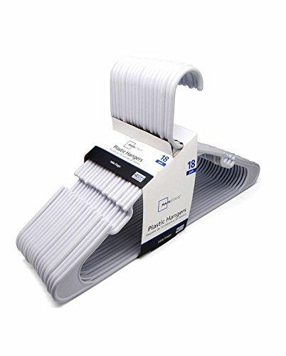Mainstay 18-Pack Standard Plastic Hangers White 2 Pack