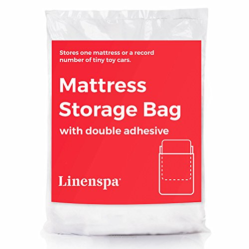 LINENSPA Mattress Storage Bag with Double Adhesive Closure - Fits Queen Full and Full XL
