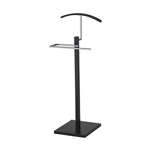 Pilaster Designs - Chrome Suit Rack Valet Stand Black