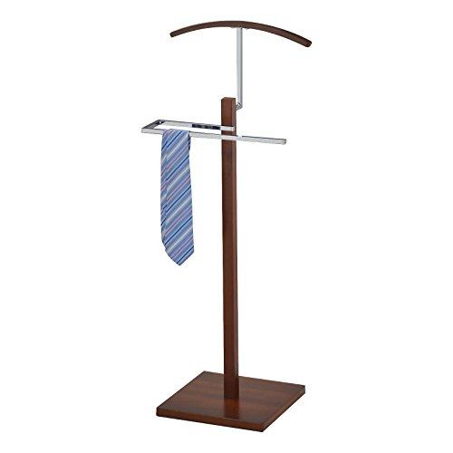 Pilaster Designs - Chrome Suit Rack Valet Stand Walnut