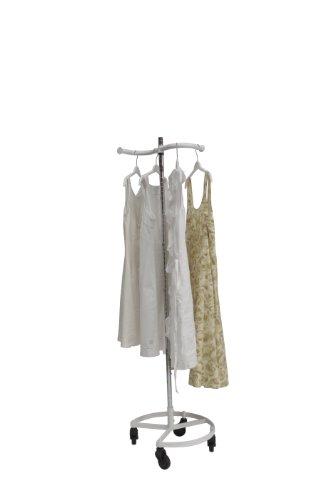 Personal Valet Clothing Rack - Single Rail White Kitchen