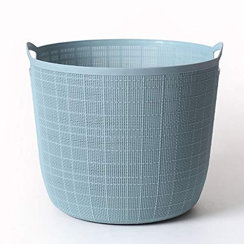 Jixi Laundry Basket Kitchen Bathroom Imitation Rattan Storage Basket Plastic Storage Baskets with Handle Bedroom Laundry Basket Laundry Hamper Color  Blue