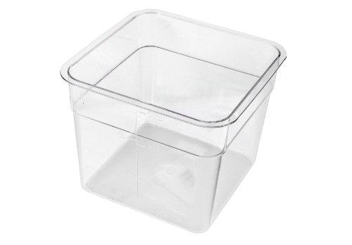 Crestware 6-Quart Square Clear Container
