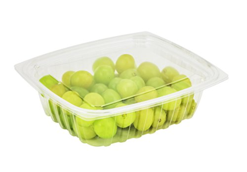 Dart C24DER 24-Ounce ClearPac Clear Rectangular Plastic Container With Clear Flat Lid Take Out Deli Fruit Food Disposable Containers 50