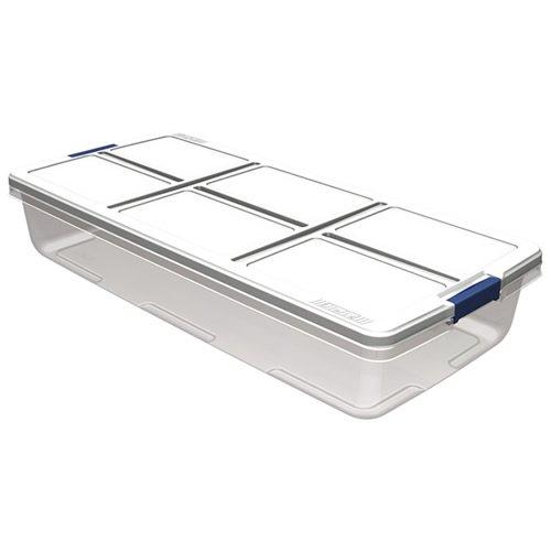 52 Quart Hefty White Storage Bin - 36 L x 168 W x 66 H 1 Bin