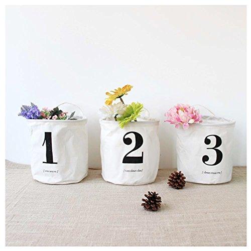 Yiuswoy White Linen Cotton Desk Accessories Organizer Mini Storage Bins Storage Baskets Tabletop Organizer Hanging Wall OrganizerSet of 3