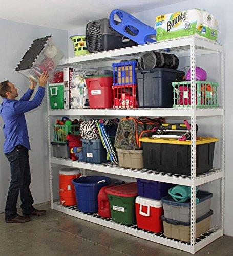 SafeRacks Freestanding Shelf  Steel Shelving Unit  2D x 8W x 7T
