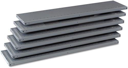 Tennsco 6Q24812MGY Industrial Steel Shelving for 87 High Posts 48wx12d Medium Gray 6carton
