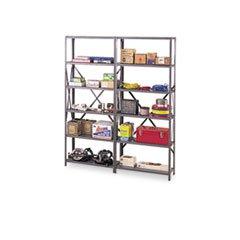 Industrial Steel Shelving for 87 High Posts 48w x 24d Medium Gray 6Carton