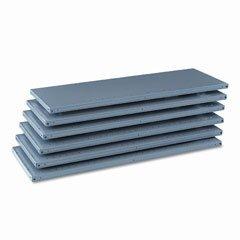 o Tennsco o - Industrial Steel Shelving for 87 High Posts 48w x18d Medium Gray 6carton by COU