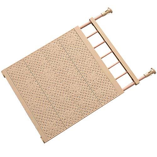 32gagwwc Wardrobe Stretchable Storage Rack Layered Partition Board Separator Adjustable Storage Rack for Kitchen Wardrobe Cupboard Bookcase ect Coffee 53-90cm