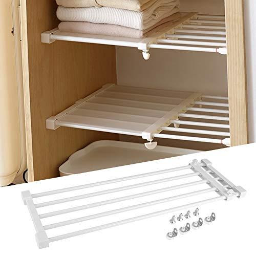 Adjustable Closet Organizer Shelf 288-504inch Expandable Storage Rack Partition Shelf DIY Divider Separator for Cabinet Wardrobe Cupboard Kitchen Bathroom