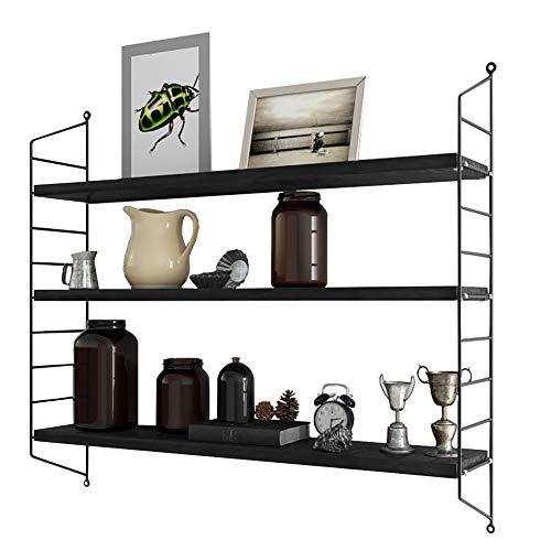 RANK Modern 3-Tier Display Wall Shelf Adjustable Storage Rack Wall Mounted Floating Shelf Dark Espresso 24 L x 115 D x30 H