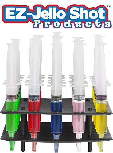 EZ-Inject Jello Shot Racking Tray for Small Syringe Hold 25 Syringes