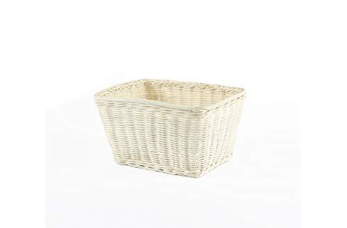 HU Rattan Square Storage Basket Living Room Table Fruit Storage Basket Snacks Storage Basket 272115cm