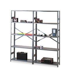 Commercial Steel Shelving 6 Shelves 36w x 18d x 75h Medium Gray by MotivationUSA