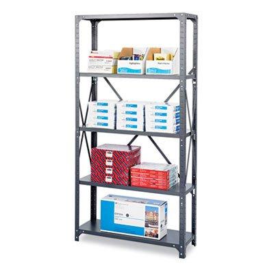 Commercial Steel Shelving Unit Five-Shelf 36w x 24d x 75h Dark Gray Sold as 1 Each