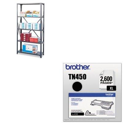 KITBRTTN450SAF6266 - Value Kit - Safco Commercial Steel Shelving Unit SAF6266 and Brother TN450 TN-450 High-Yield Toner BRTTN450