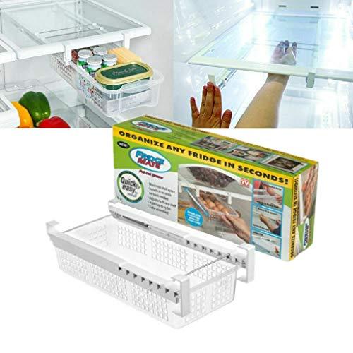 Creative Refrigerator Storage Box Fridge Mate Drawers Layer Storage Rack Refrigerator Pull Out Bin Organizer Fresh Spacer Egg storage Box Style 1