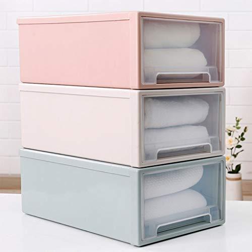 Quaanti Storage Container DrawerStorage Box Closet Dresser Drawer Organizer Minimalist StackableCube Basket Bins Containers Divider with Drawers for UnderwearBrasSocksTiesScarves Pink5L