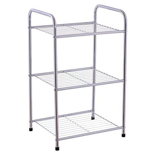 Giantex 3 Tier Metal Storage Display Organizer Rack Shelves Shelving Home Kitchen 3 Tier