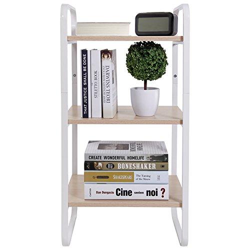 Lifewit 3-Tier Storage Rack Organization Shelf for Living Room  Office  Kitchen White